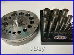 Metal Jewelry Making Tool Kit Pepetools Disc Cutter, Center Punch, Dapping Set