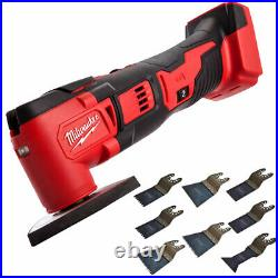 Milwaukee M18BMT-0 M18 18V Compact Multi Tool Cutter + 8 Piece Accessories Set