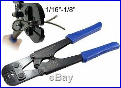 Muzata Stainless Steel Cable Cutter and Hand Crimper Tool Set, for Railing