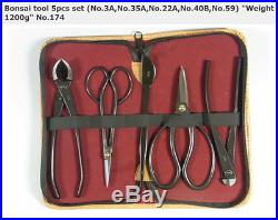 NEW KANESHIN Bonsai Tool 5 Ppcs Set No. 174 Cutter Scissors Tweezers Japan F/S