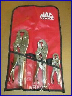 NOS Mac Tools / Vise Grip 3-Piece RARE USA Locking Wrench withCutter 4LW 7LW 10LW