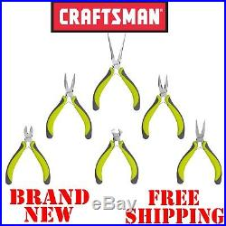 New CRAFTSMAN Evolv 6pc Piece MINI PLIERS SET Cutter Tools Long Nose Wire