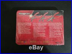 New! Snap-On Tools 3pc Pliers Needle Nose Cutters Set Red PL305ACF