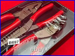 New Snap On Tools TPL307ACFO 3pc Combin. Slip-joint Pliers Cutters Needle Nose