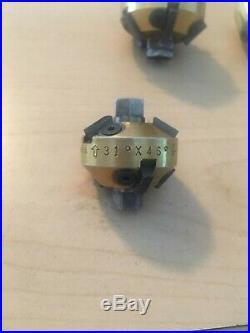 Neway valve seat cutter set with pilots
