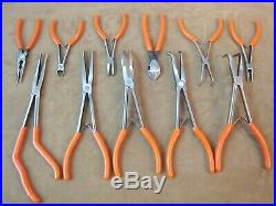 Nice! Matco Tools No. Sp11setag 11 Piece Pliers, Dykes, Needle Nose, Cutters Set