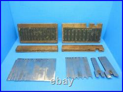 Nice set of 20 irons blades cutters for Stanley 45 wood plane with boxes