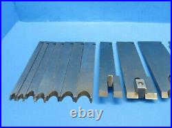 Nice set of 21 irons blades cutters for Stanley 45 wood plane with orig Wards box