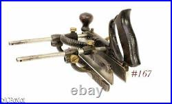 Older japanned STANLEY TOOLS 45 w cutter set box woodworking tool