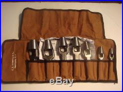Osborne Hole Punch Set Leather Cutting Tool Upholstery Fabrics Leather Cutter