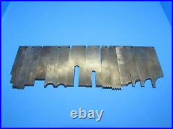 Parts CUSTOM set of 15 cutters irons blades for Stanley 45 55 wood plane