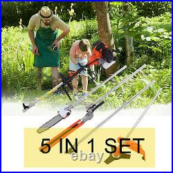 Petrol Hedge Trimmer Set 52 cc Chainsaw Brush Cutter Pole Saw Outdoor Tools