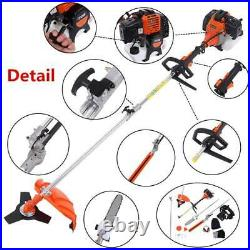 Petrol Hedge Trimmer Set Chainsaw Brush Cutter 52 cc Pole Saw Outdoor Tools