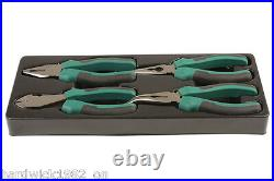Pliers Tools Set With Storage Tray Side Cutters Long Nose Bent Nose Pliers