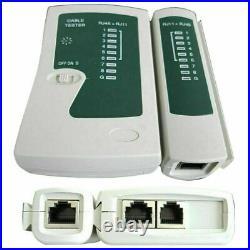 RJ45 Ethernet Network Cable Tester Crimping Stripper Cutter Tool Kit Set S247