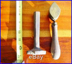 Rare Vintage Millinery Leaf Flower Iron Tool Mold Bronze Antique Set Cutter #8