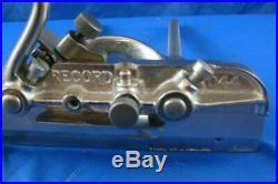 Record 044 plough / rebate plane, full set of 10 cutters, restored & improved
