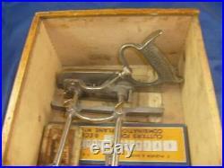 Record 050 combination plough / beading plane full set of cutters, original box