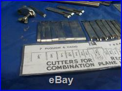 Record 050 combination plough / beading plane with extended set of 18 cutters