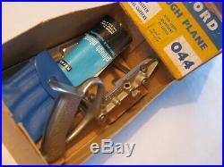 Record No 044 Plough Plane Boxed With 8 Cutter Set, Used Once