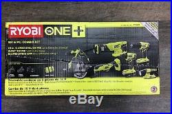 Ryobi one+ 6 Piece Power Tools Set Kit, Impact Driver, Drill, Saw Cutter, Case