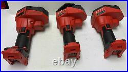 SET OF 3 BROKEN Milwaukee Tools M18 Brushless Threaded Rod Cutter 2872-20