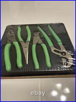 SNAP ON TOOLS PLIER SET PL400BG 4-Piece Pliers/ Cutters Set (Green)(NEW)