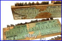 STANLEY TOOLS 55 CUTTER BOX set irons 1 2 3 4 some w labels