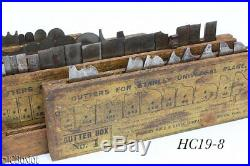 STANLEY TOOLS 55 PLOW CUTTER IRONS set 1 2 3 4 box
