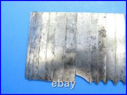 Set of 14 cutters blades irons for Siegley Union wood plow plane dado bead sash