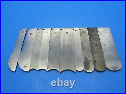 Set of 49 irons blades cutters for Stanley 55 wood plane with boxes