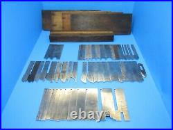 Set of 52 irons blades cutters for Stanley 55 wood plane with boxes & lids
