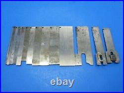 Set of 54 irons blades cutters for Stanley 55 wood plane incl chamfer & with boxes