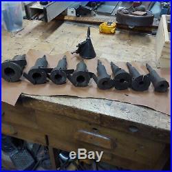 Set of eight spoke tenon cutters