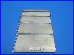 Set of five Record wood plane 1/4 reeding irons blades cutters 1 2 3 4 5 reeds