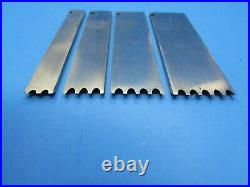 Set of four Record wood plane 1/8 reeding irons blades cutters 2 3 4 & 5 reeds