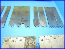 Set or lot of 50 irons blades cutters for Stanley 55 wood plane with 4 boxes