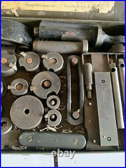 Sioux Valve Seat Ring Tool Valve Ring Cutter Set Grinder Case Albertson Co. Head
