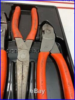 Snap On 3pc Orange Rubber Needle Nose / Cutter Plier Set PL307ACF