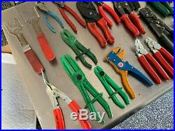 Snap On, Mac Tools, Blue Point Wire & Diagonal Cutters Strippers 26 Pc Lot 100