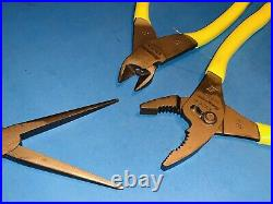 Snap-On Tools Like NEW 3pc Hi-Viz Soft Grip Assorted Plier Cutter Set PL307ACFHV