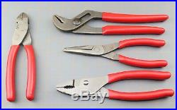 Snap On Tools PL400B 4 pc Pliers Cutters Set 91ACP 96ACF 47ACF 87ACF