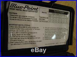 Snap-on Blue-point Tools Sheet Metal Hole Cutter Kit Ga219b