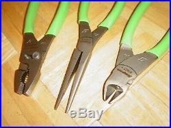 Snap-on Tools New Unused 3 Piece Pliers / Cutters Set Pl300cfg