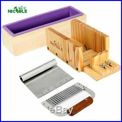 Soap Making Kit Tool Set For Handmade Soaps Cutting Box With Cutters Silicone