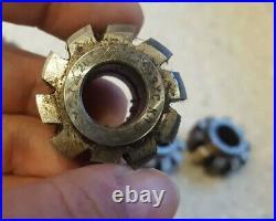 Soviet Metal Tools Set of Milling GEAR HOB CUTTERS MODULE USSR, M0.7 R18, 9HS