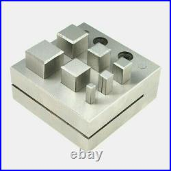 Square Disc Cutter 7 Square Punch Set for Jewelry Gold Silver Making Design Tool