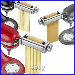 Stainless Pasta Roller & Cutter Set Attachment for KitchenAid Stand Mixers Tool