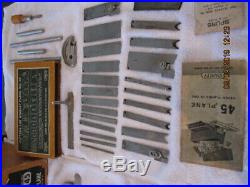 Stanley 45 Combination Plane Complete Set & Tools With 23 Cutters $450cad