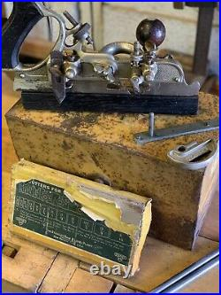 Stanley 45 Combination Plane Original Tin Metal Box Complete Set Of Cutters